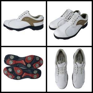 Womans FootJoy GreenJoys, 9.5M, White Leather & Ta